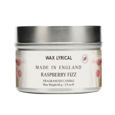Raspberry Fizz TIN Made In England Scented Candles Wax Lyrical 16 Hours